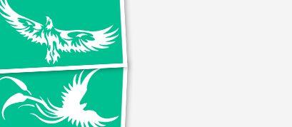Трафареты с изоражением птиц