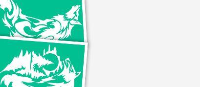 Трафареты с изоражением волков и лис