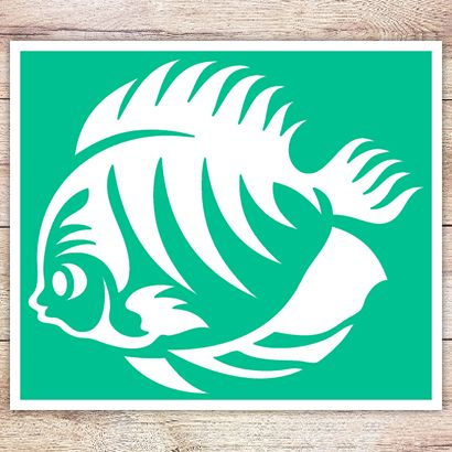 Трафарет Рыбка-Ангел