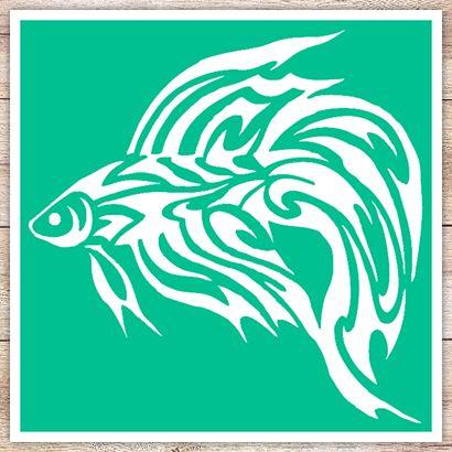 Трафарет Бойцовая рыбка