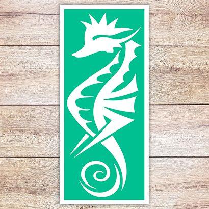 Трафарет Изящный морской конёк