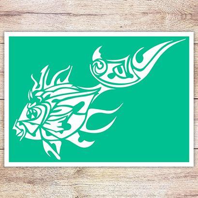 Трафарет Золотая рыбка