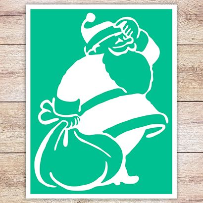 Трафарет Санта-Клаус
