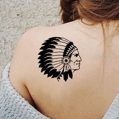 Многоразовый трафарет Индеец Апачи 009-03-337 на теле