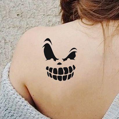 Многоразовый трафарет Злая тыква на Хэллоуин 009-05-337 на теле