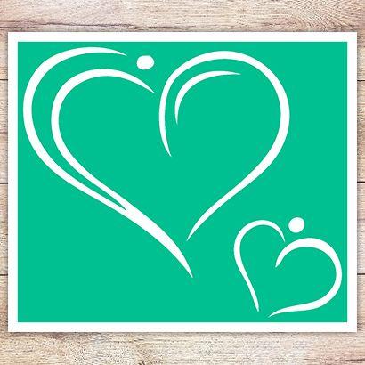 Трафарет Двойное сердце