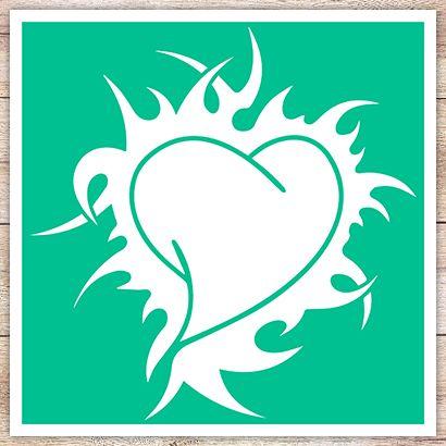 Трафарет Кельтское сердце