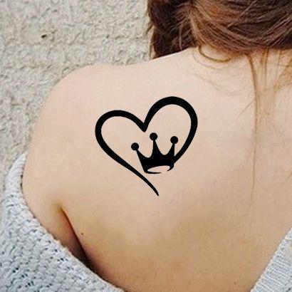 Многоразовый трафарет Королевское сердце 209-36-170 на теле