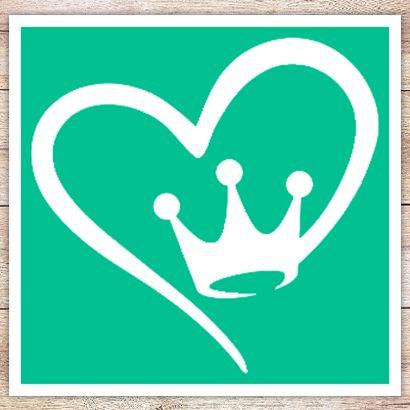 Трафарет Королевское сердце