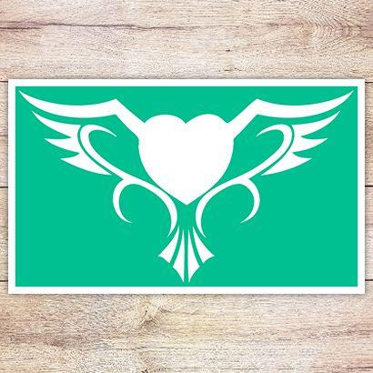Трафарет Крылатое сердце