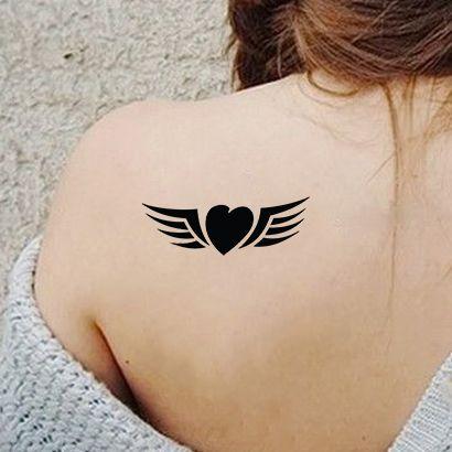 Многоразовый трафарет Сердце с крыльями 209-05-170 на теле