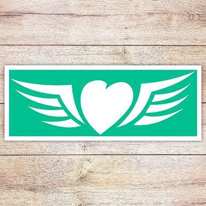 Трафарет Сердце с крыльями