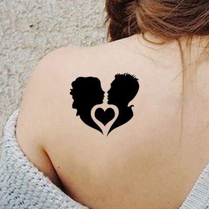 Многоразовый трафарет Сердце и любовь 209-31-170 на теле