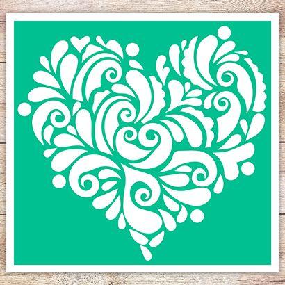 Трафарет Сердце в стиле мехенди