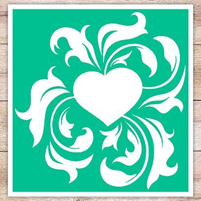 Трафарет Ветвистое сердце