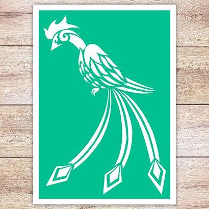 Трафарет Сказочная птица