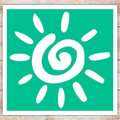 Трафарет Солнце для бикини-дизайна