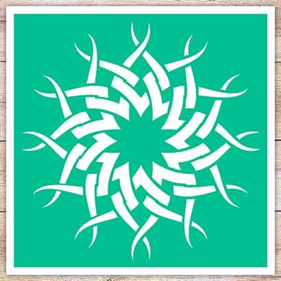 Трафарет Солнце в кельтском стиле