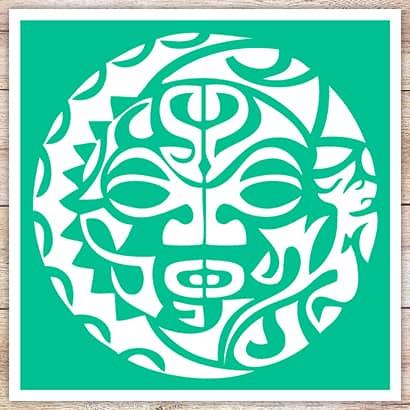 Трафарет Солнце-маска