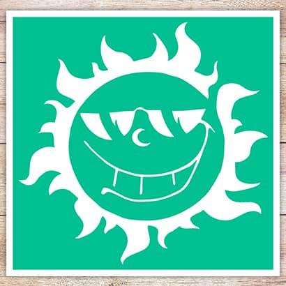 Трафарет Солнце в очках