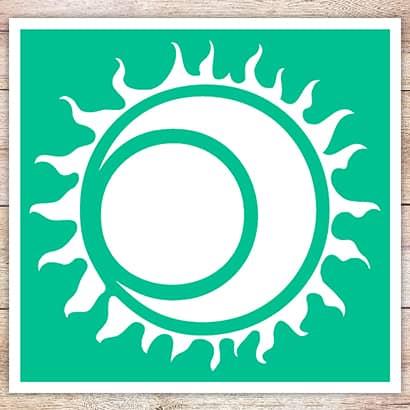 Трафарет Солнечное затмение