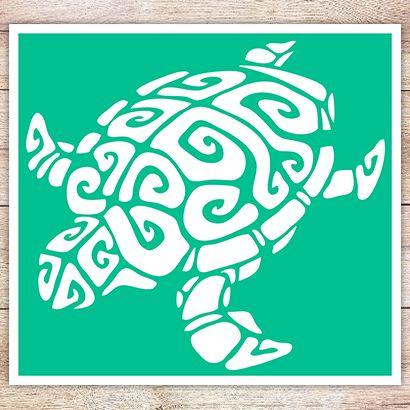 Трафарет Сухопутная черепаха