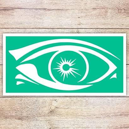 Трафарет Сверкающий глаз