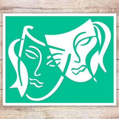 Трафарет Театральные маски