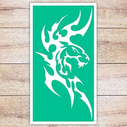 Трафарет Тигр в кельтском стиле