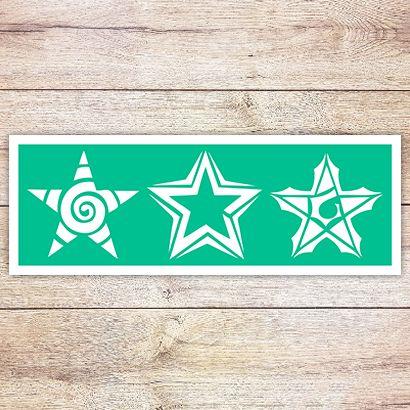 Трафарет Три звезды