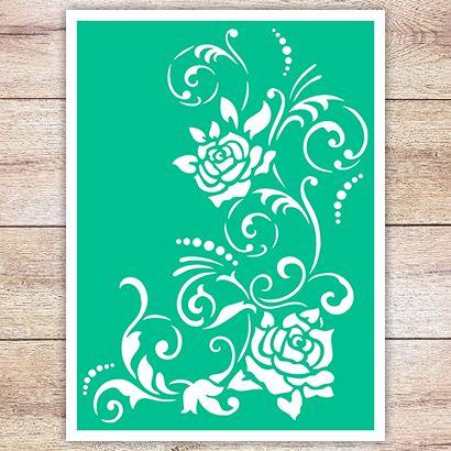 Трафарет Чайная роза