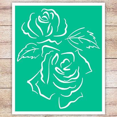 Трафарет Две розы