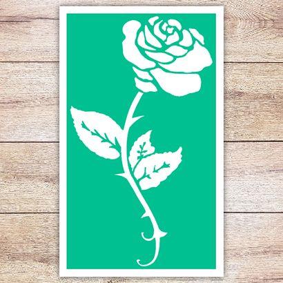 Трафарет Классическая роза