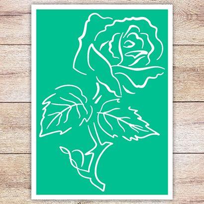 Трафарет Контурная роза