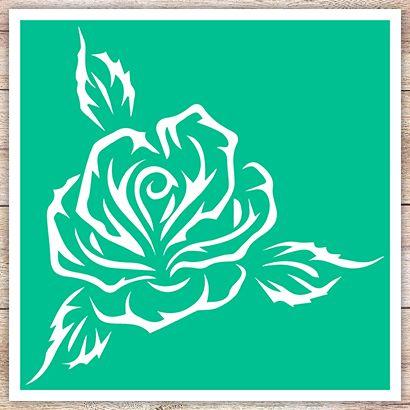 Трафарет Распустившаяся роза