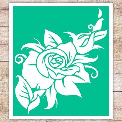 Трафарет Цветок розы