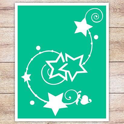 Трафарет Вереница звёзд