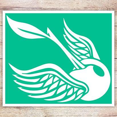 Трафарет Вишня с крыльями