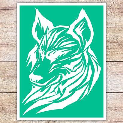 Трафарет Кавказский волк