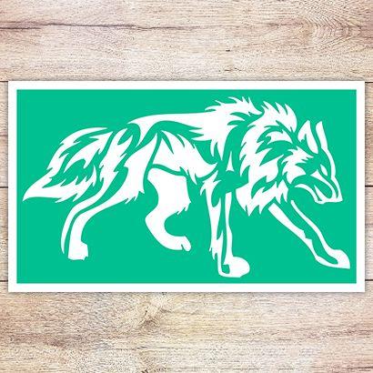 Трафарет Крадущийся волк