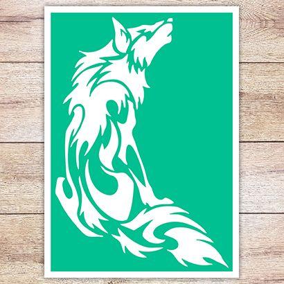 Трафарет Полярный волк