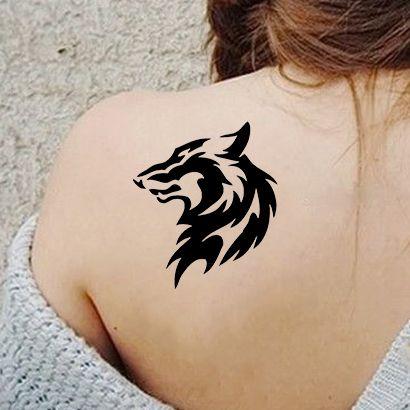 Многоразовый трафарет Степной волк 551-07-286 на теле