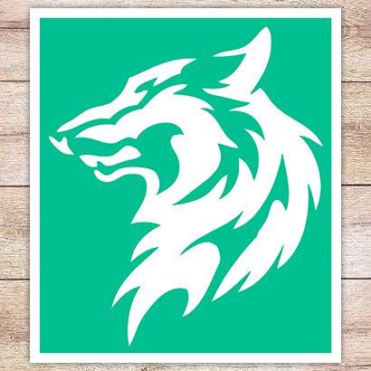 Трафарет Степной волк