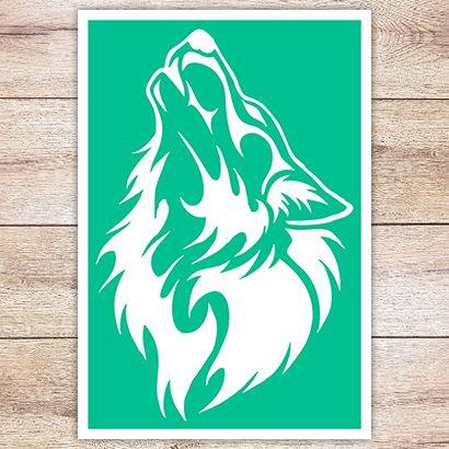 Трафарет Таёжный волк