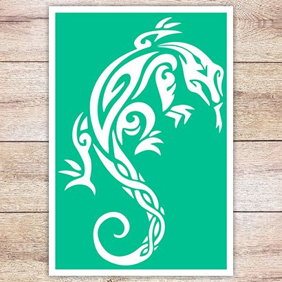 Трафарет Варан в кельтском стиле