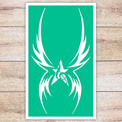 Трафарет Звезда и крылья