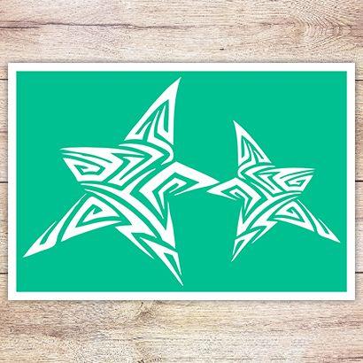 Трафарет Звёзды в кельтском стиле